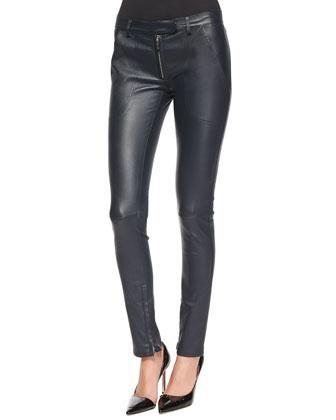 Zadine Bell-Sleeve Knit Top & Smashton Stretch Leather Leggings