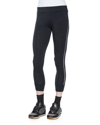 Monili-Chain Track Leggings, Volcano