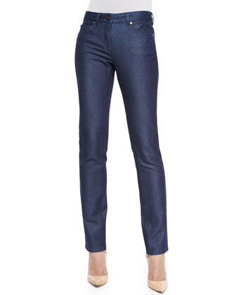 Sparkle Slim-Leg Classic Jeans, Denim