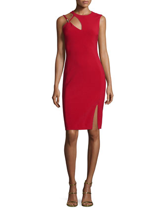 Sleeveless Cutout Sheath Dress, Lacca