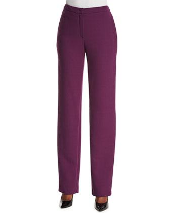 Tovah Straight-Leg Classic Pants, Amethyst