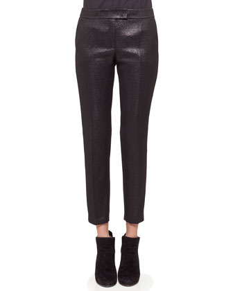 Frankie Skinny Cropped Pants, Black