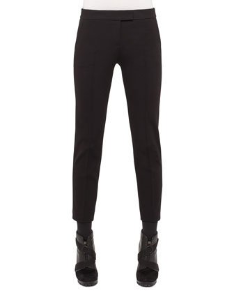 Mara Skinny Knit Pants, Charcoal