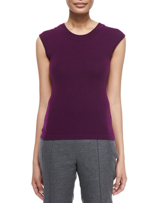 Round-Neck Fitted Tank, Amethyst