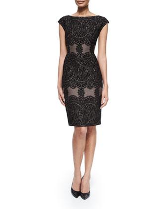 Long-Sleeve Combo Short Jacket & Sheath Dress