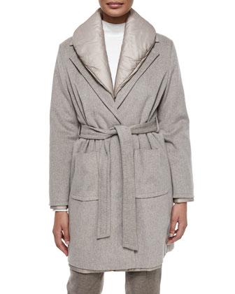 Three-In-One Coat, Mock-Neck Long-Sleeve Top & Hepburn High-Waist Flannel ...