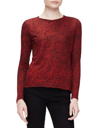 Tissue Needle-Punch T-Shirt, Crimson/Black Static