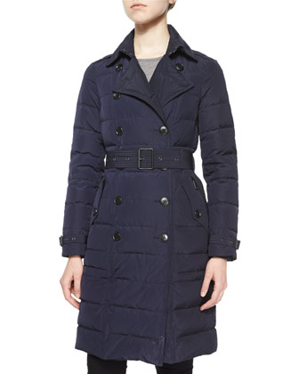 Allerdale Double-Breasted Belted Puffer Coat