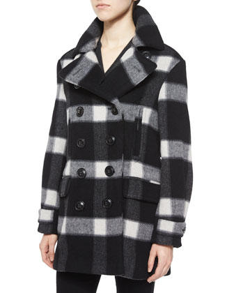 Weltford Plaid Pea Coat