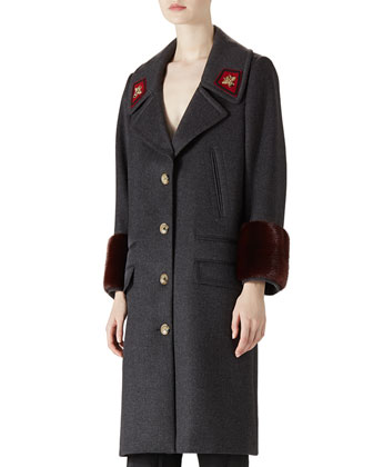 Wool & Mink Overcoat