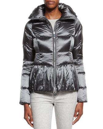 Water-Repellant Puffer Jacket, Long-Sleeve Cashmere Sweater & Mid-Rise ...