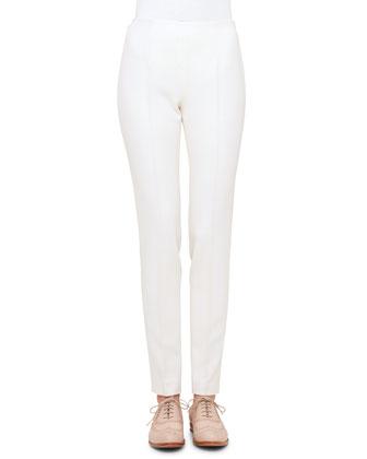 Cross-Stitched Long-Sleeve Tunic & Melissa Gabardine Narrow-Leg Pants