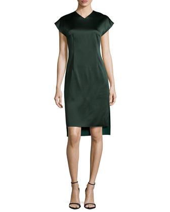 V-Neck Side-Slit Dress