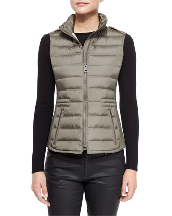Cranstead Zip Puffer Vest W/ Side Stitching