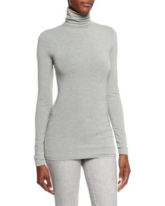 Callie Turtleneck Top, Medium Gray
