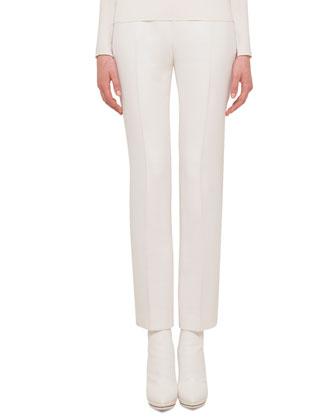 Carlota Double-Faced Straight-Leg Pants