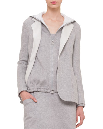 Bicolor Silk Fleece Reversible Jacket, Bicolor Reversible Hooded Sweatshirt ...