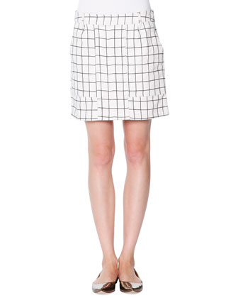 Jigsaw Check A-Line Skirt