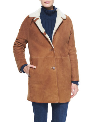 Spencer Shearling Fur Coat