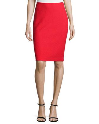 Nouveau Boucle Knit Spencer Jacket, Scoop-Neck Shell & Pencil Skirt