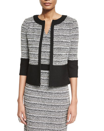Laponche Knit 3/4-Sleeve Jacket