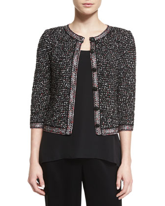 Tache Knit 3/4-Sleeve Jacket