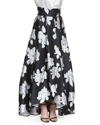 Macro Floral Duchesse Origami Gown Skirt
