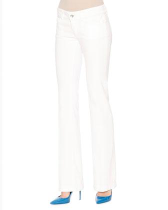 Long-Sleeve Striped Cardigan, Blue/White/Black