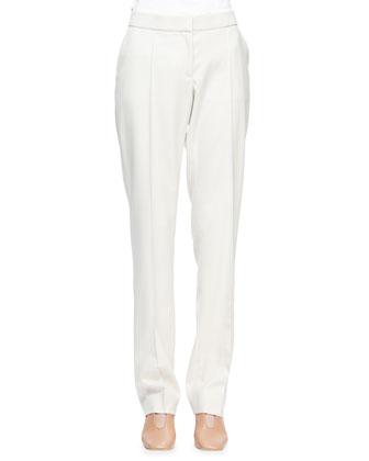 Jasmie Slim-Leg Suit Pants, Mist