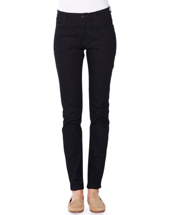 Dark Denim Skinny Jeans, Navy