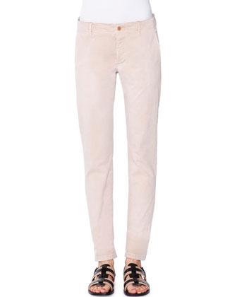 Low-Rise Slim-Leg Pants, Chino