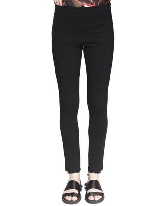 Inlay-Detail Jersey Leggings
