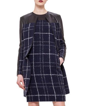 Long-Sleeve Detachable-Bottom Jacket, Ultramarine