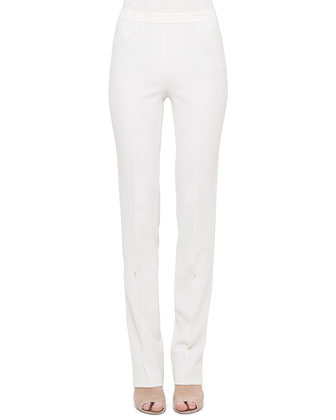 Francoise Slim-Leg Pants, Cream