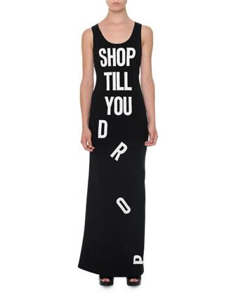 Shop-Til-You-Drop Tank Dress, Black