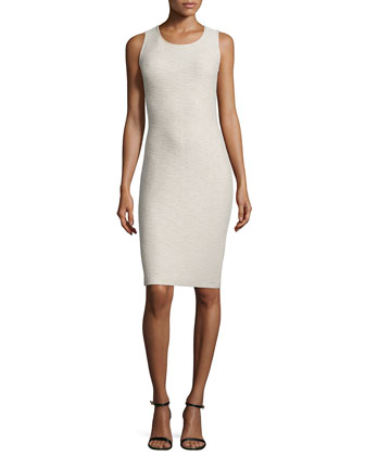 Via Vittorio Knit Sheath Dress, Quartz Multi