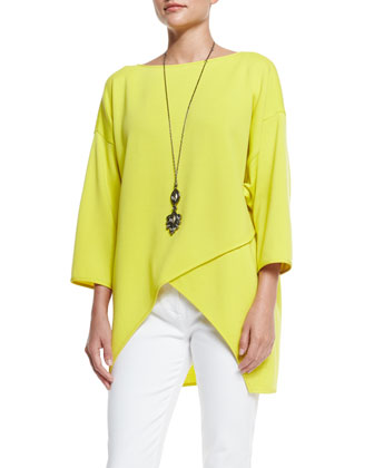 Milano Knit Crossover-Front Top, Absinthe