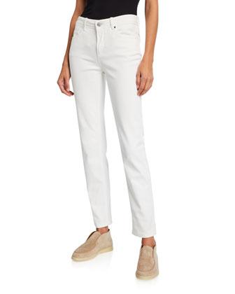 Short-Sleeve Wide-Striped Top & Mathias Slim-Leg Ankle Jeans
