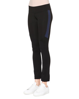 Two-Tone Leggings, Black/Navy