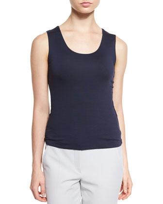 Reversible Long-Sleeve Blazer, Scoop-Neck Tank Top & Slim-Leg Folded-Cuff Pants