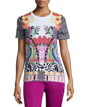 Matisse Short-Sleeve T-Shirt, White/Multi