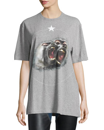 Monkey Brothers Short-Sleeve Tee, Gray
