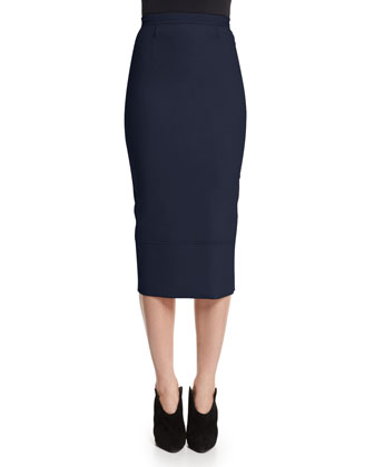 Galaxy Cap-Sleeve Peplum Top & Galaxy Fitted Pencil Skirt