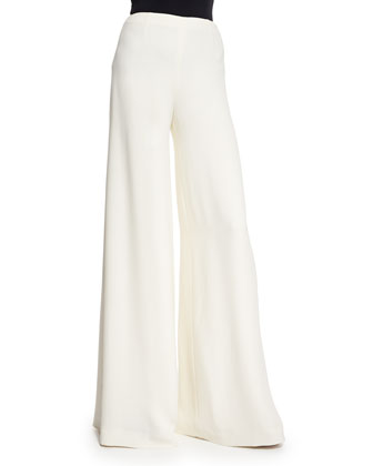 Charmaine Wide-Leg Pants, Cream
