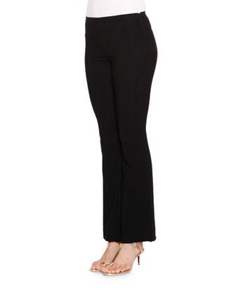 Long-Sleeve Printed Peasant Top & Mid-Rise Flare-Leg Pants
