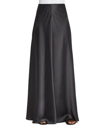 Afrol A-Line Long Skirt, Pewter