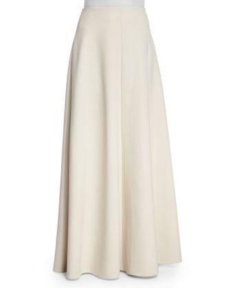 Keola Funnel-Neck Cashmere Sweater & Afrol A-Line Skirt