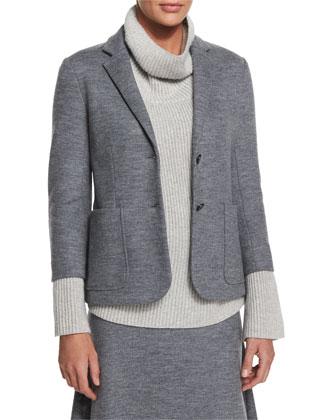 Naven Two-Button Jacket, Medium Gray Melange