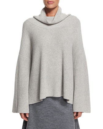 Kaima Long-Sleeve Sweater, Light Gray