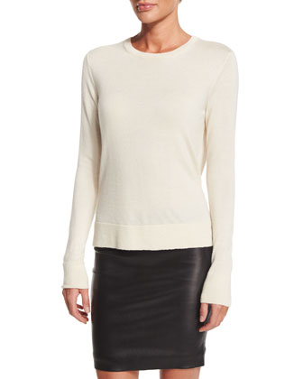 Ghent Long-Sleeve Sweater, Ivory